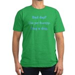 Bad Day Therapy Men's Fitted T-Shirt (dark)