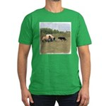 Dog Meets Sheep Men's Fitted T-Shirt (dark)