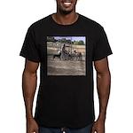 Herding Dog Art Men's Fitted T-Shirt (dark)