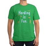 Herding is Fun Men's Fitted T-Shirt (dark)