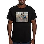 Peacock Men's Fitted T-Shirt (dark)