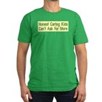 Honest Caring Kids Men's Fitted T-Shirt (dark)
