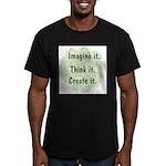 Imagine It Men's Fitted T-Shirt (dark)