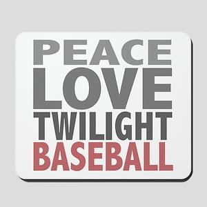 Peace Love Twilight Baseball Mousepad