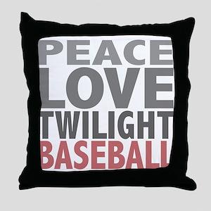 Peace Love Twilight Baseball Throw Pillow