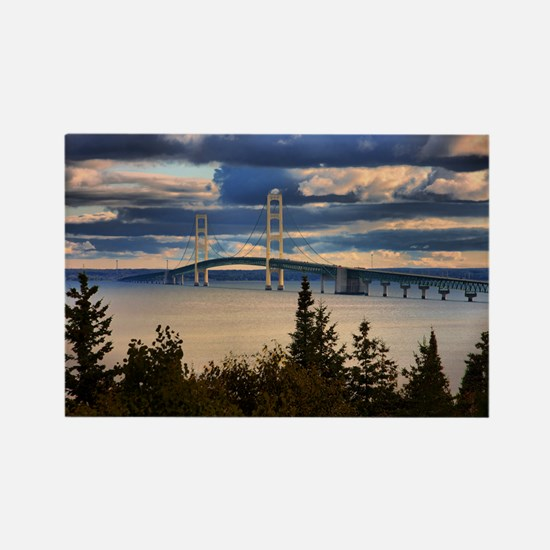 Mackinac Bridge #1060 Rectangle Magnet