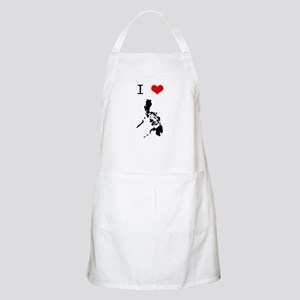 I Heart The Philippines BBQ Apron