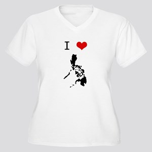 I Heart The Philippines Women's Plus Size V-Neck T