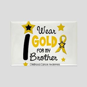 I Wear Gold 12 Brother CHILD CANCER Rectangle Magn