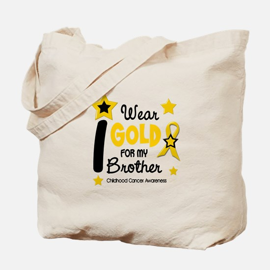 I Wear Gold 12 Brother CHILD CANCER Tote Bag