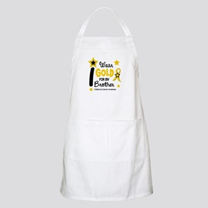 I Wear Gold 12 Brother CHILD CANCER BBQ Apron