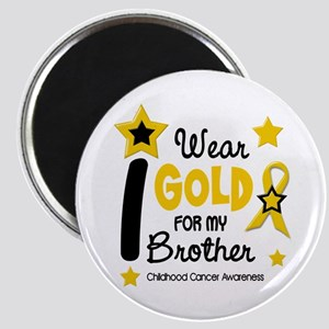 I Wear Gold 12 Brother CHILD CANCER Magnet