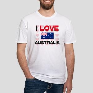 I Love Australia Fitted T-Shirt