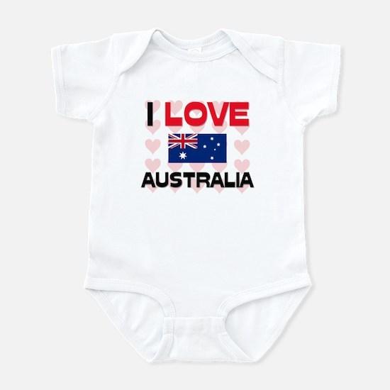 I Love Australia Infant Bodysuit
