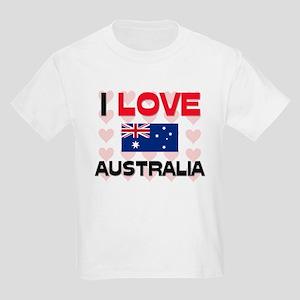 I Love Australia Kids Light T-Shirt