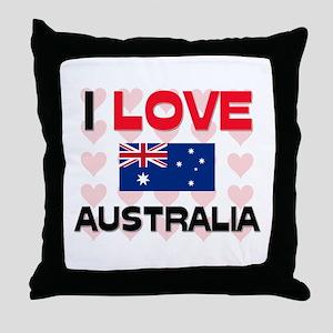 I Love Australia Throw Pillow