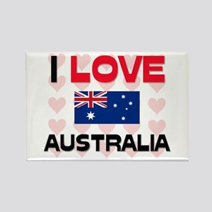 I Love Australia Rectangle Magnet