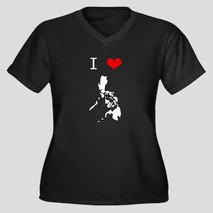 I Heart The Philippines Women's Plus Size V-Neck D