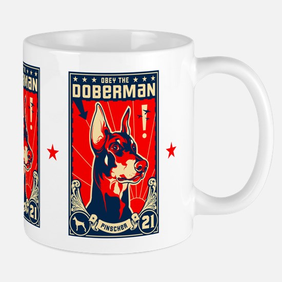 Obey the Doberman! Patriotism Mug