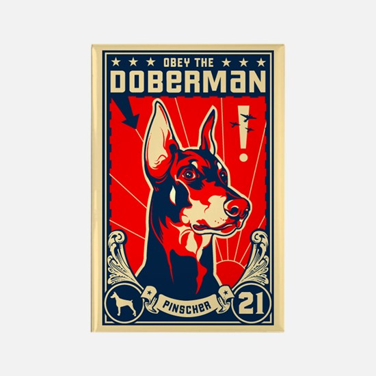 Obey the Doberman! Patriotism Magnet