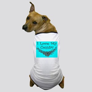 I Love My Country Dog T-Shirt