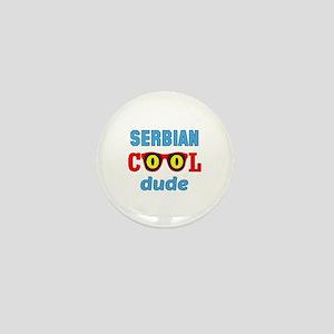 Serbian Cool Dude Mini Button