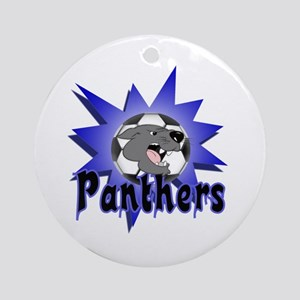 Panthers Soccer Ornament (Round)