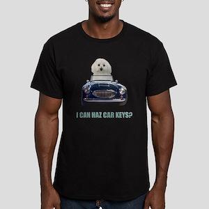 LOL Bichon Frise Men's Fitted T-Shirt (dark)