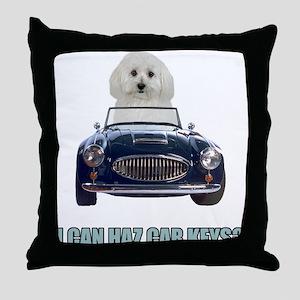 LOL Bichon Frise Throw Pillow
