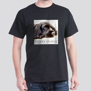 Sleek Black Cocker Spaniel Art T-Shirt, NEW!!