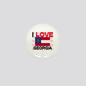 I Love Georgia Mini Button