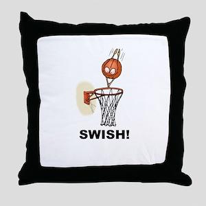 SWISH BASKETBALL DESIGN Throw Pillow