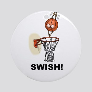 SWISH BASKETBALL DESIGN Ornament (Round)