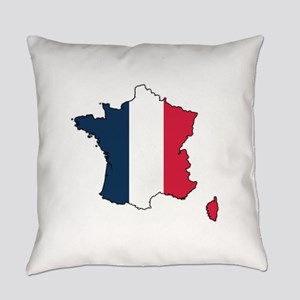 French Flag Everyday Pillow
