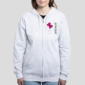 Cute Principal Women's Zip Hoodie