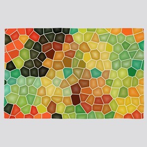Colorful stained glass 4' x 6' Rug