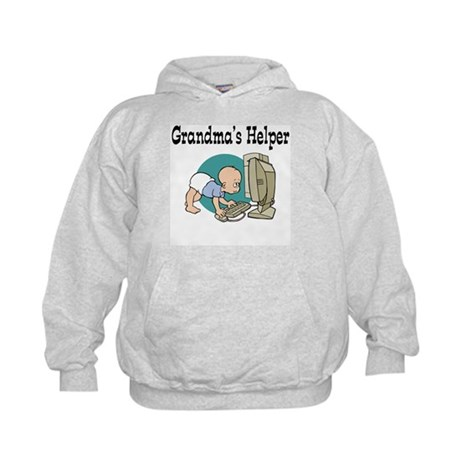 Grandma's Helper (Computer) Kids Hoodie