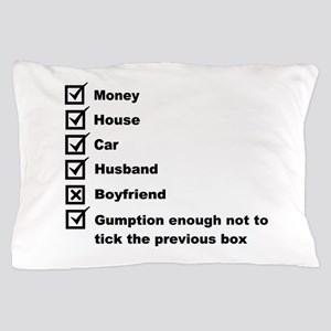 Woman's Check List To A Happy Life Pillow Case