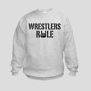 Wrestlers Rule Kids Sweatshirt
