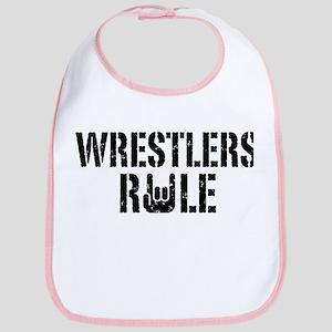 Wrestlers Rule Bib