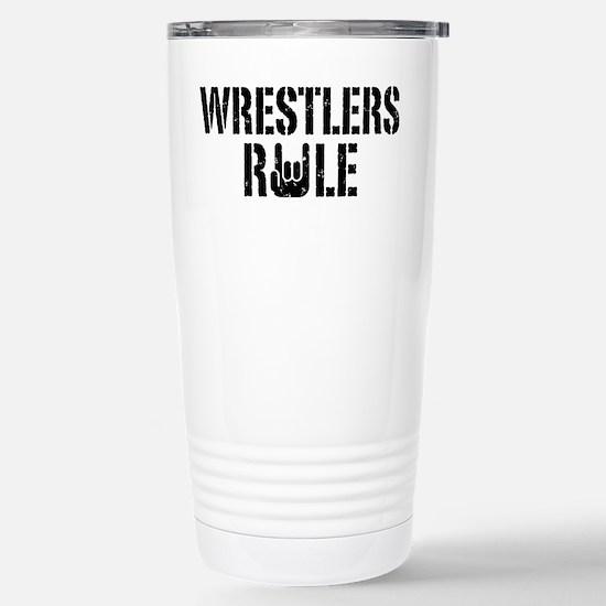 Wrestlers Rule Stainless Steel Travel Mug