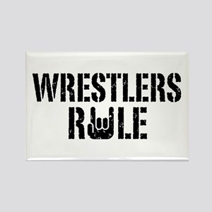 Wrestlers Rule Rectangle Magnet