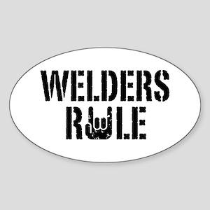 Welders Rule Oval Sticker