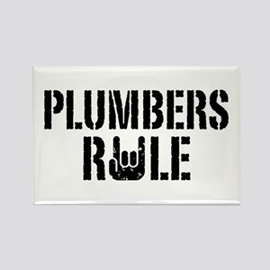 Plumbers Rule Rectangle Magnet