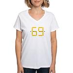 sixty nine Women's V-Neck T-Shirt