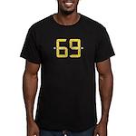 sixty nine Men's Fitted T-Shirt (dark)