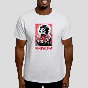 Follow Chairman Meow! 2 Sided Light T-Shirt
