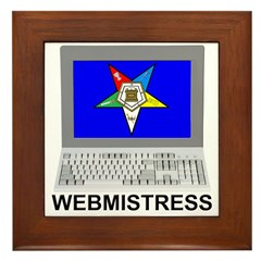 OES Webmistress Framed Tile