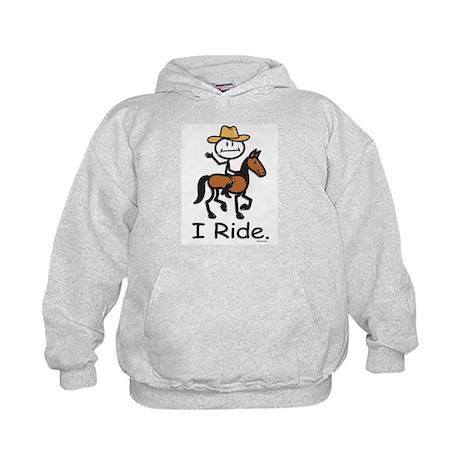 Western horse riding Kids Hoodie