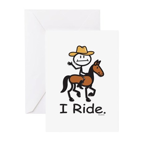 Western horse riding Greeting Cards (Pk of 10)